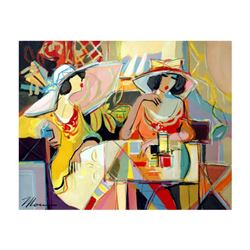 """Isaac Maimon, """"Taking Time Out"""" Original Acrylic Painting, Hand Signed with Certificate of Authentic"""
