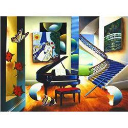 """Ferjo """"LOVE IN PARIS"""" Giclee on Canvas"""