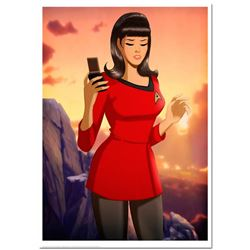 """""""Fate of the Red Shirt"""" is a Numbered Chromatic Pigment Ink Limited Edition, Hand Signed by Des Tayl"""