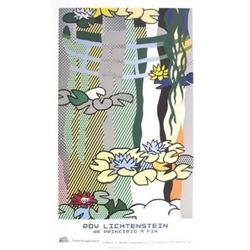 """Roy Lichtenstein """"Water Lilies with Japanese Bridge"""" Offset Lithograph"""