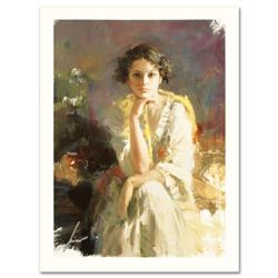 """Pino (1939-2010) """"Yellow Shawl"""" Limited Edition Giclee. Numbered and Hand Signed; Certificate of Aut"""