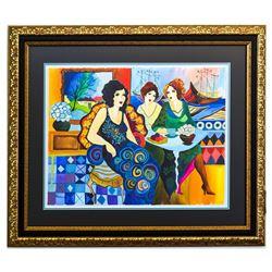 """Patricia Govezensky- Original Watercolor """"Afternoon Tea Party"""""""