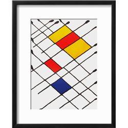 "Alexander Calder ""Derrier le Mirroir, no. 156: Damier"" Custom Framed Lithograph"