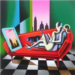 "Mark Kostabi ""Parallel Identity"" Original Serigraph"