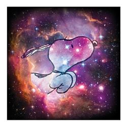 "Peanuts, ""Reach for the Stars"" Hand Numbered Limited Edition Fine Art Print with Certificate of Auth"
