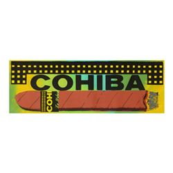 "Steve Kaufman (1960-2010), ""Cohiba Cigar"" Hand Painted Limited Edition Silkscreen on Canvas from an"