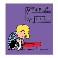 "Peanuts, ""Schroeder"" Hand Numbered Canvas (40""x44"") Limited Edition Fine Art Print with Certificate"