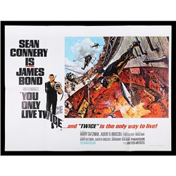 """YOU ONLY LIVE TWICE (1967) - UK Quad """"Style-A"""" Poster, 1967"""