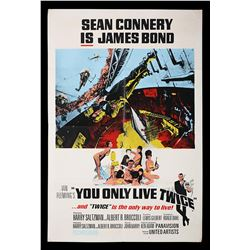 YOU ONLY LIVE TWICE (1967) - UK Double-Crown Poster, 1967