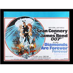 DIAMONDS ARE FOREVER (1971) - UK Quad Poster, 1971