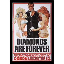DIAMONDS ARE FOREVER (1971) - UK Double-Crown Poster, 1971