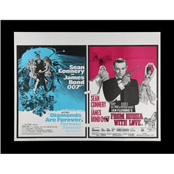 DIAMONDS ARE FOREVER (1971) / FROM RUSSIA WITH LOVE (1963) - UK Quad Double-Bill Poster, 1973 Re-Rel