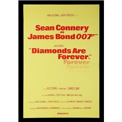 DIAMONDS ARE FOREVER (1971) - UK Double-Crown Poster, 1976 Re-Release