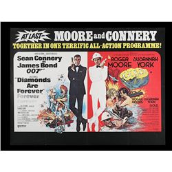 DIAMONDS ARE FOREVER (1971) / GOLD (1974) - UK Quad Double-Bill Poster, 1976 Re-Release
