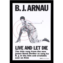 """LIVE AND LET DIE (1973) - UK """"Record"""" Promo Poster, 1973"""