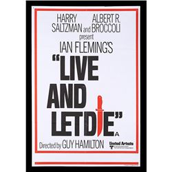 LIVE AND LET DIE (1973) - UK Double-Crown Poster, 1973