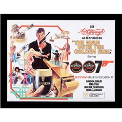 """THE MAN WITH THE GOLDEN GUN (1974) - UK Crown """"Guinness"""" Poster, 1974"""