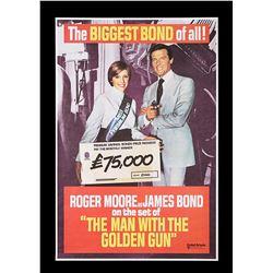 "THE MAN WITH THE GOLDEN GUN (1974) - UK ""Premium Bond"" Poster, 1974"