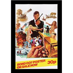 THE MAN WITH THE GOLDEN GUN (1974) - UK Shop Promo Poster, 1974