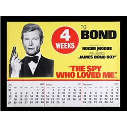 "THE SPY WHO LOVED ME (1977) - UK Quad ""Calendar Advance"" Poster, 1977"