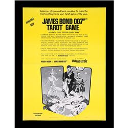LIVE AND LET DIE (1973) - US Tarot Card Game Poster, 1973