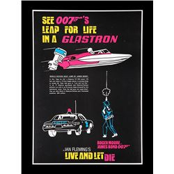 "LIVE AND LET DIE (1973) - US ""Glastron"" Promo Poster, 1973"