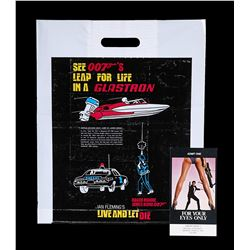 LIVE AND LET DIE (1973) - US Glastron Plastic Bag, 1973