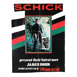 "LIVE AND LET DIE (1973) - US ""Schick"" Promo Poster, 1973"