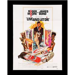 "LIVE AND LET DIE (1973) - US 30x40 ""West Hemi"" Poster, 1973"