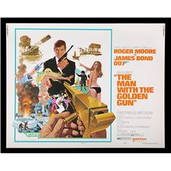 THE MAN WITH THE GOLDEN GUN (1974) - US Half-Sheet Poster, 1974