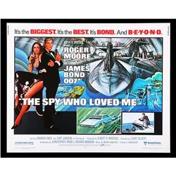 THE SPY WHO LOVED ME (1977) - US Half-Sheet Poster, 1977