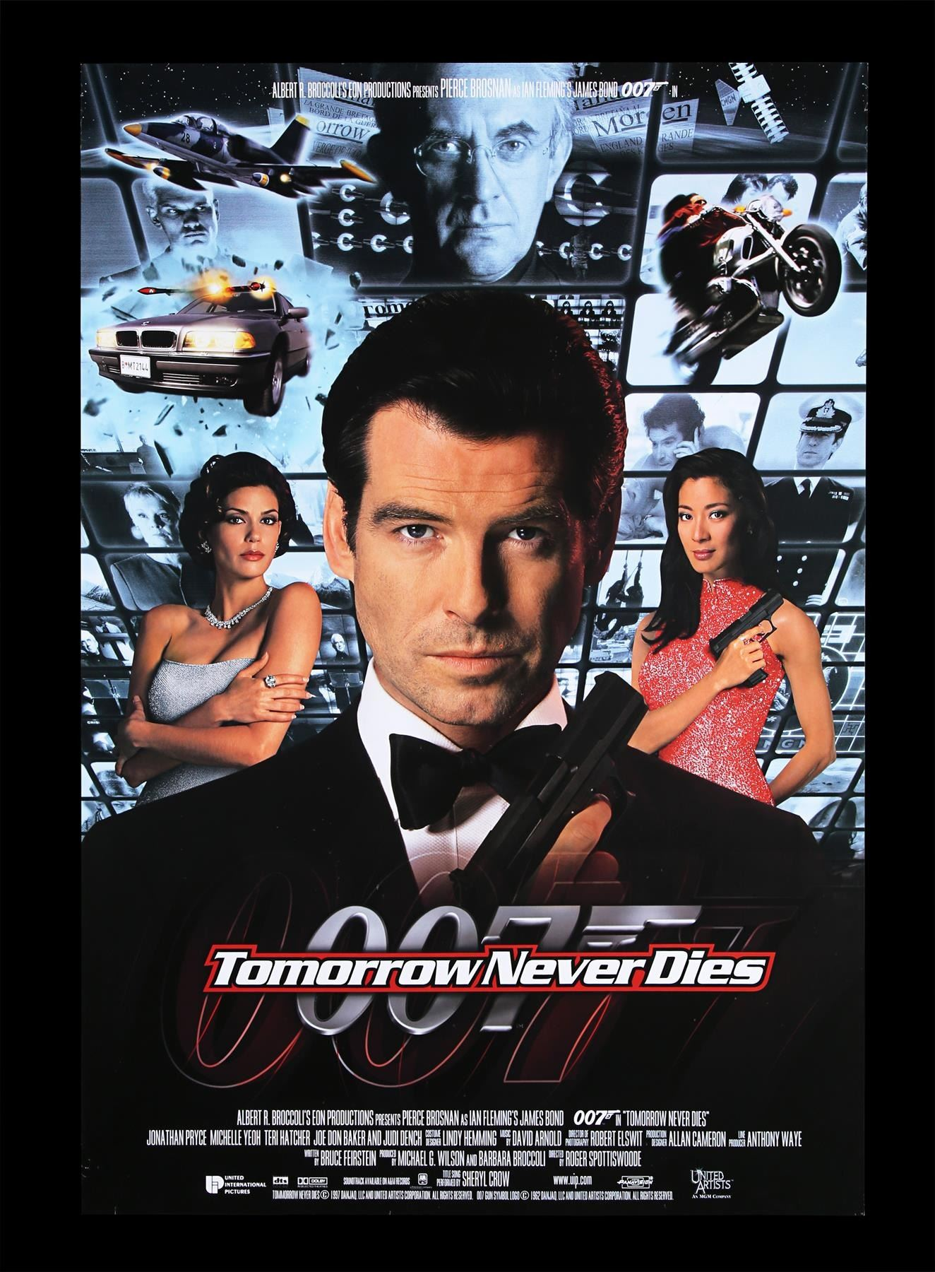 Tomorrow Never Dies 1997 Two Us One Sheet Posters One Misspelt And One Soundtrack Poster 19