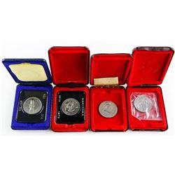 Lot (4) Cased Nickel Dollars