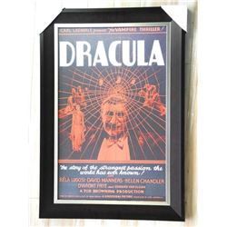 DRACULA Movie Poster Panel, Gallery Framed 27x36""
