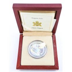 .9999 Fine Silver $20.00 Coin 'Hologram Niagara Fa