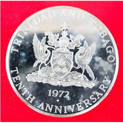 Trinidad and Tobago 10.00 Solid Sterling Proof