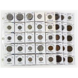 Lot (5) Pages World Coins: New Zealand, England, C