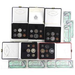 Lot (5) Silver 1867-1967 Specimen Sets (No Gold) P