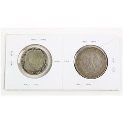 Lot (2) German 5 and 2 Mark Coins, High Grade Silv