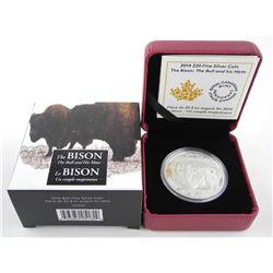 .9999 Fine Silver $20.00 Coin 'The Bison' LE/C.O.A