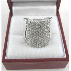 925 Silver Bead Set Swarovski Elements Ring.
