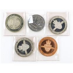 Estate Lot (5) Coin Club Medals