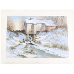 John Joy (1925-2012) Litho 'De Salvo's Mill' Artis