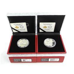 Pair - 2017 .9999 Fine Silver $15.00 Coins 'Lunar