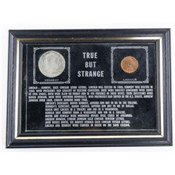 True but Strange - Kennedy Half Dollar Lincoln One