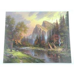 Thomas Kinkade (1958-2012) 'The Mountains Declare