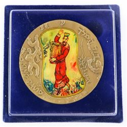 Israel Medal 'King David' Bronze with Colour
