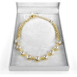 MM Crystal Designer, Necklace 9 Bezel Set - Round