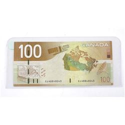 Bank of Canada 2004 One Hundred Dollar Note