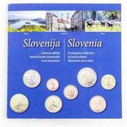 Slovenia Euro UNC Coins Folio